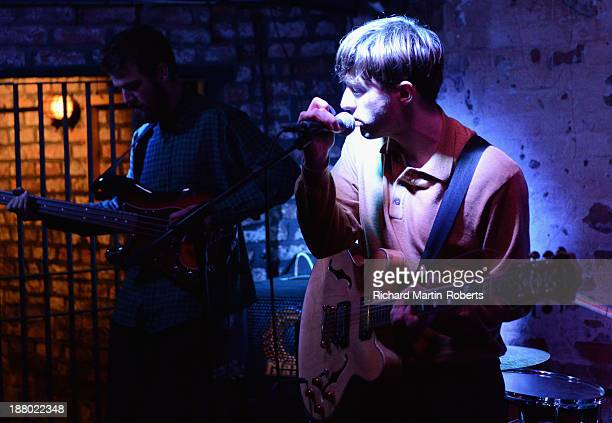 Thomas Savage of Kins performs at the Shipping Forecast on November 14 2013 in Liverpool United Kingdom