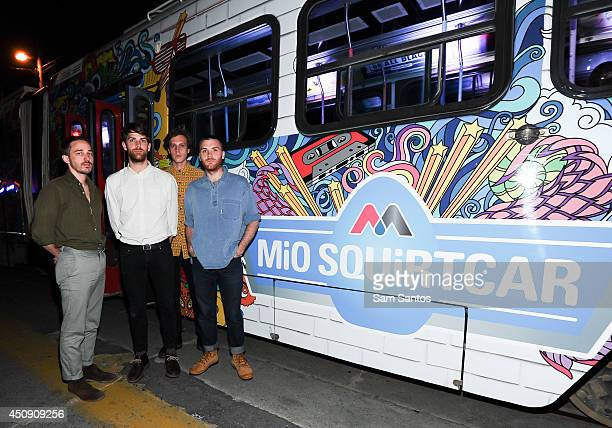 Thomas Savage Rob Walters Alex Crosby and Alex Knight of Kins attend the NXNE MiO Squirtcar Day 2 on June 19 2014 in Toronto Canada
