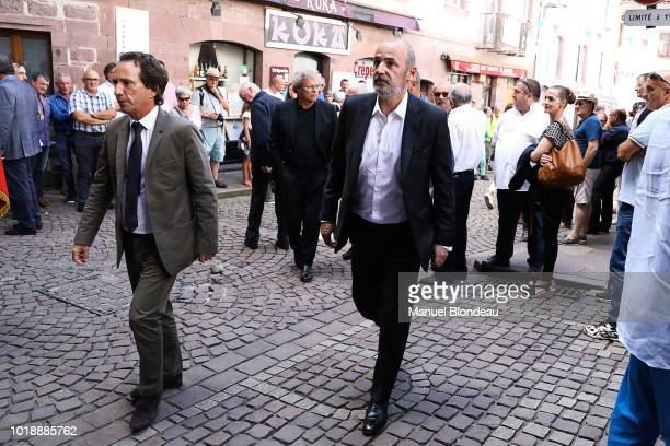 Thomas Savare is seen at the burial of Pierre Camou in Saint Jean Pied de Port during the Funeral of former rugby player Pierre Camou on August 18...