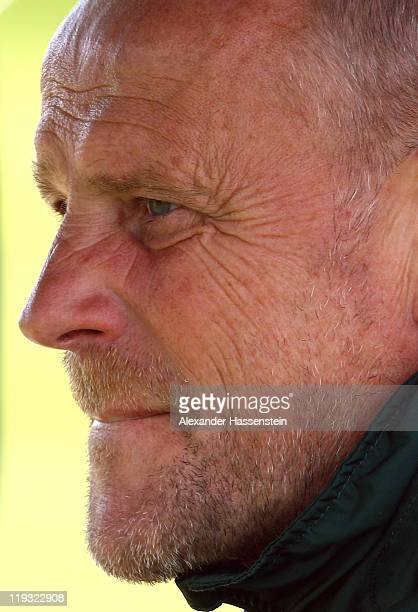 Thomas Schaaf head coach of Bremen looks on during the Werder Bremen training session on July 18 2011 in Donaueschingen Germany