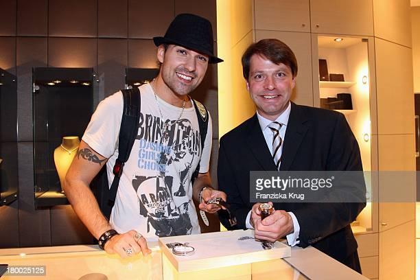 """Thomas Schnädter Und David Garrett Bei Der Premiere Des """"Montblanc Star Nicolas Rieussec Monopusher Chronograph"""" Im Kadewe In Berlin ."""