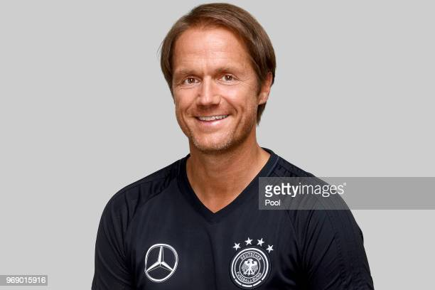 Thomas Schneider poses for a photo during a portrait session ahead of the 2018 FIFA World Cup Russia at Eppan training ground on June 5 2018 in Eppan...