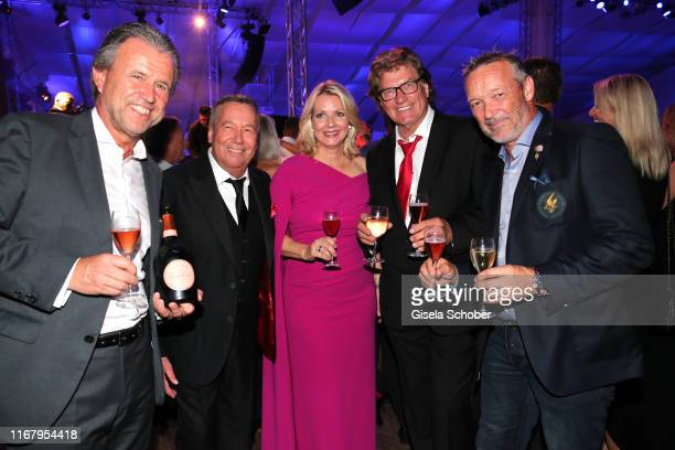 Thomas Schreiner CEO LaurentPerrier Champagner Roland Kaiser and his wife Silvia Keiler during the EAGLES Praesidenten Golf Cup Gala Evening on...