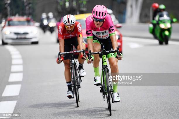 Thomas Scully of Australia and Team EF Education First Drapac P/B Cannondale / Thomas De Gendt of Belgium and Team Lotto Soudal / during the 105th...