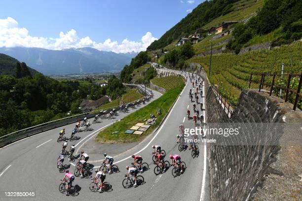 Thomas Scully of New Zealand and Team EF Education - Nippo Orange Mountain Jersey, Simon Pellaud of Switzerland and Team Switzerland, Antonio Nibali...