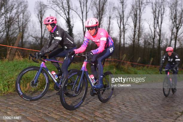 Thomas Scully of The New Zealand and Team EF Education First / Sep Vanmarcke of Belgium and Team EF Education First / during the 75th Omloop Het...