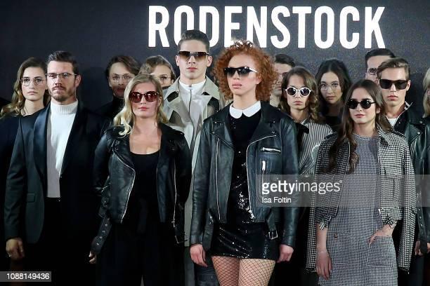 Thomas Seitel , Luna Schweiger, Tyger Lobinger, Anna Ermakova, Mia Wehrmann, Lucia Strunz and Nathan Wehrmann during the Rodenstock Eyewear Show 'A...