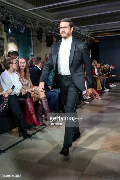 Thomas Seitel walks the runway during the Rodenstock Eyewear Show 'A New Vision of Style' at Isarforum on January 24 2019 in Munich Germany