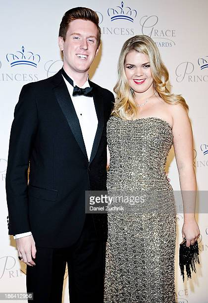 Thomas Senecal and Christina Bott attend the 2013 Princess Grace Awards Gala at Cipriani 42nd Street on October 30 2013 in New York City