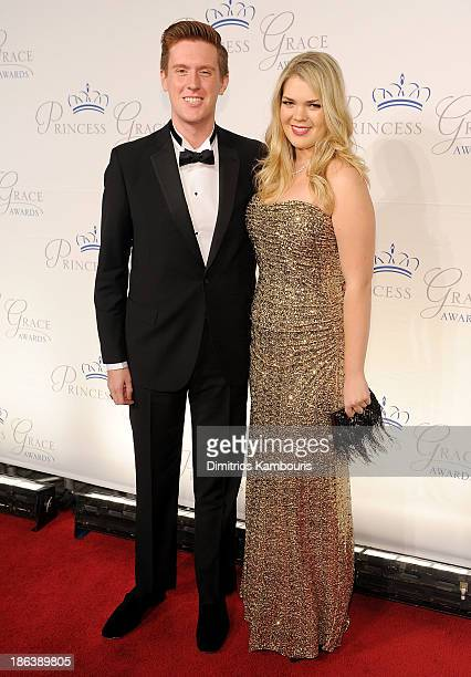 Thomas Senecal and Christina Bott attends the 2013 Princess Grace Awards Gala at Cipriani 42nd Street on October 30 2013 in New York City