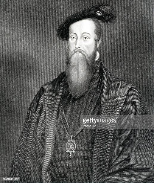 Thomas Seymour Lord High Admiral Brother of Jane Seymour Henry VIII's third wife Married Catherine Parr widow of Henry VIII Engraving