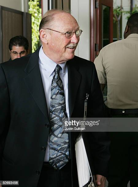 Thomas Sneddon Santa Barbara County district attorney in the Michale Jackson case passes through a metal detector as he arrives at the Santa Barbara...