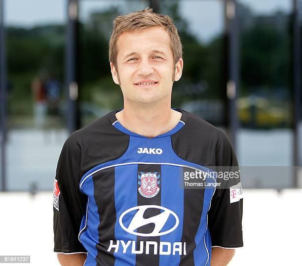 Thomas Sobotzik poses during the 2nd Bundesliga Team Presentation of FSV Frankfurt on July 06 2008 in Offenbach Germany