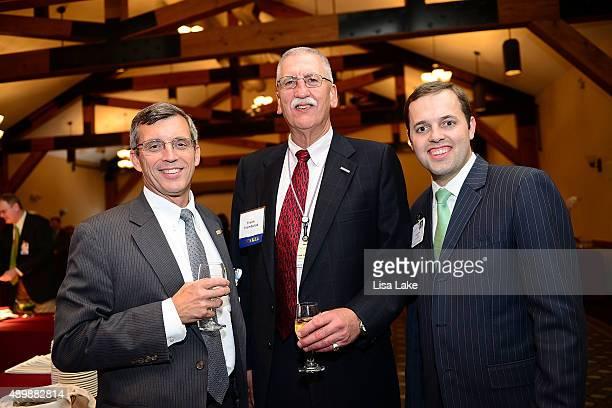 Thomas Sokola Frank Trembulak and Gordy Evans attend Geisinger's Centennial VIP Celebration at Pine Barn Inn on September 24 2015 in Danville...