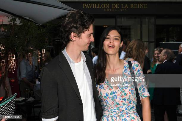 Thomas Soliveres and Lucie Boujenah attend the Millesime Champagne Rose 2008 By Maison Piper Heidsieck : Launch Party At Pavillon De La Reine Place...