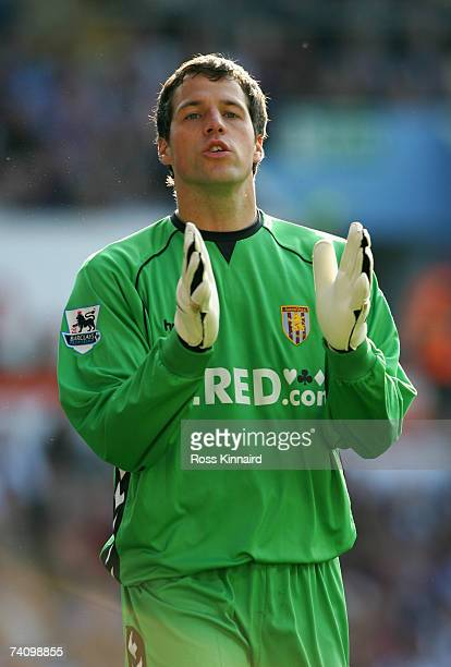 Thomas Sorensen of Aston Villa during the Barclays Premiership match between Aston Villa and Sheffield United at Villa Park on May 5 2007 in...