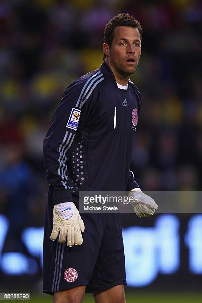 Thomas Sorensen of Denmark during the FIFA2010 World Cup Qualifying Group 1 match between Sweden and Denmark at the Rasunda Stadium on June 6, 2009...