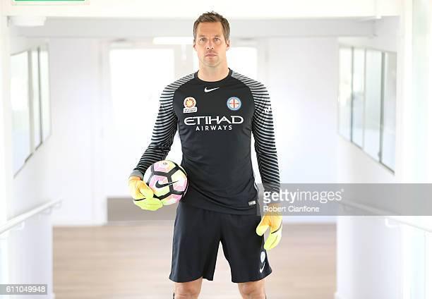 Thomas Sorensen of Melbourne City FC poses for a portrait on September 29 2016 in Melbourne Australia