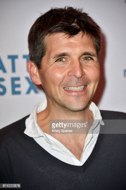 Thomas Sotto attends the 'The Battle Of The Sexes' Paris Premiere at Publicis Champs Elysees on November 14 2017 in Paris France