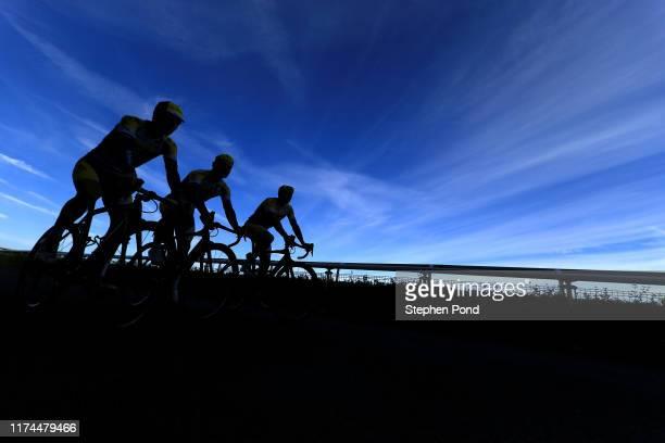 Thomas Sprengers of Belgium and Team Sport Vlaanderen _ Baloise / Thimo Willems of Belgium and Team Sport Vlaanderen _ Baloise / Shadow / Silhouet /...