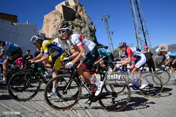 Thomas Sprengers of Belgium and team Sport Vlaanderen - Baloise / Edward Ravasi of Italy and UAE-Team Emirates / Romain Sicard of France Team Total...