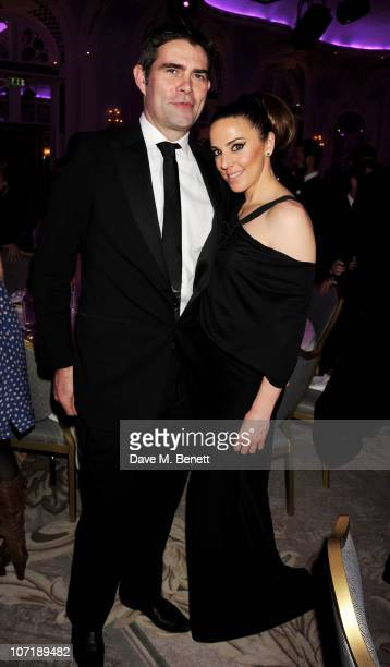 Thomas Starr and Melanie Chisholm attends the London Evening Standard Theatre Awards ceremony at The Savoy Hotel on November 28, 2010 in London,...