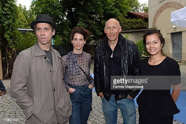 Thomas Stiller Bibiana Beglau Detlef Boethe and Agnes ThiMai attend the FFF Reception during the Munich Film Festival 2013 at the Praterinsel on July...