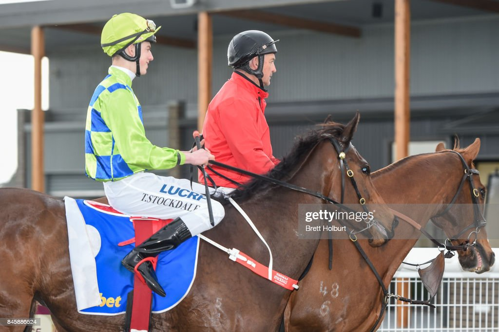 Thomas Stockdale returns to the mounting yard on Ella Violet after winning Sportsbet BM58 Handicap at Racing.com Park Synthetic Racecourse on September 12, 2017 in Pakenham, Australia.