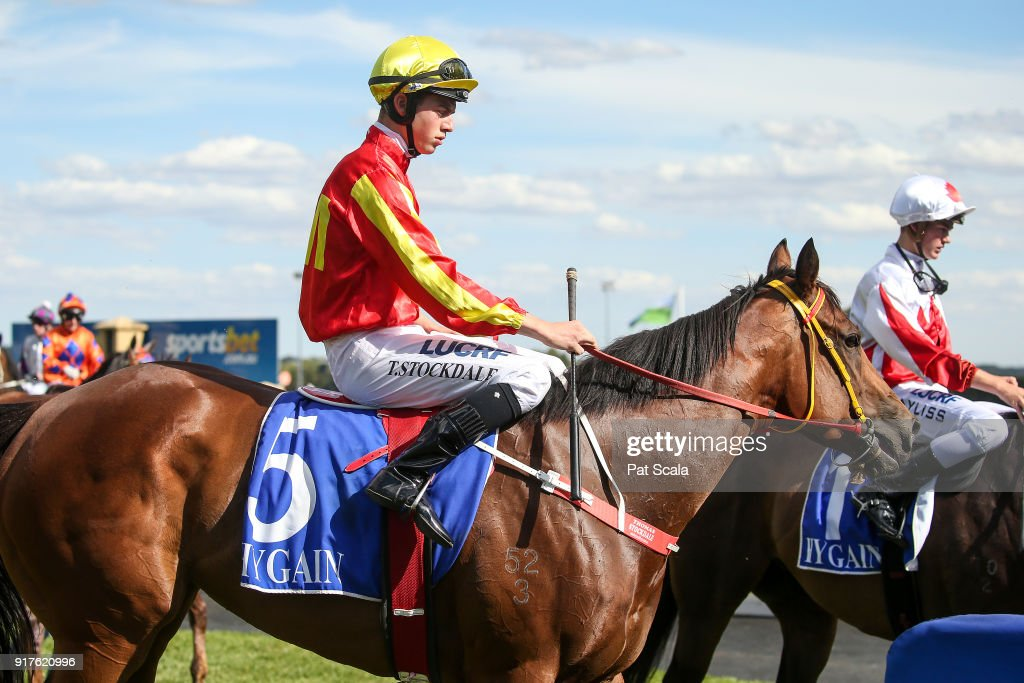Thomas Stockdale returns to the mounting yard on Innocent Lily after winning Hygain Winnerâs Choice BM58 Handicap,at Sportsbet-Ballarat Racecourse on February 13, 2018 in Ballarat, Australia.