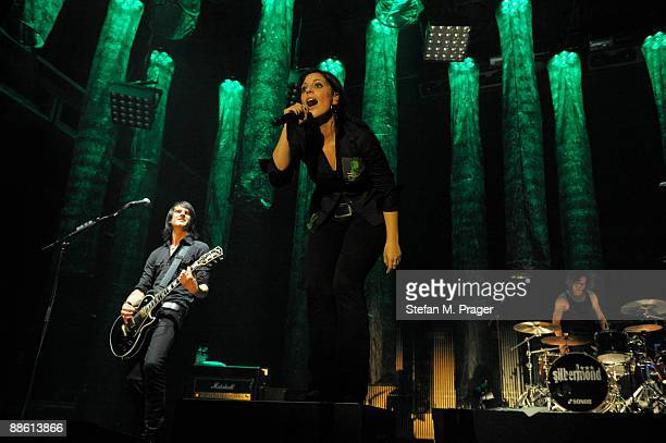 Thomas Stolle Stefanie Kloss and Andreas Nowak of Silbermond perform on stage at Zenith on May 13 2009 in Munich Germany