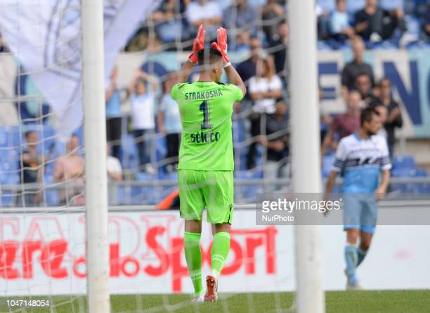 Thomas Strakosha during the Italian Serie A football match between SS Lazio and Fiorentina at the Olympic Stadium in Rome on october 07 2018