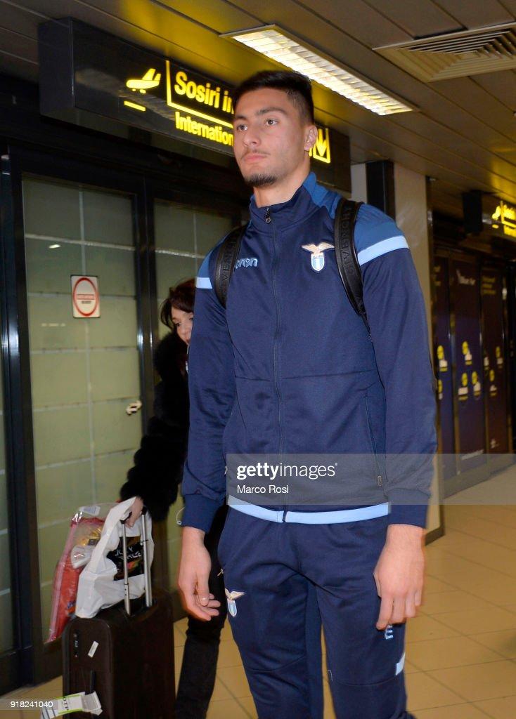 Thomas Strakosha of SS Lazio as SS Lazio travel to Bucharest on February 14, 2018 in Rome, Italy.