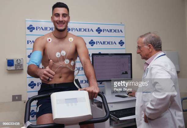 Thomas Strakosha of SS Lazio attends the medical tests on July 11 2018 in Rome Italy