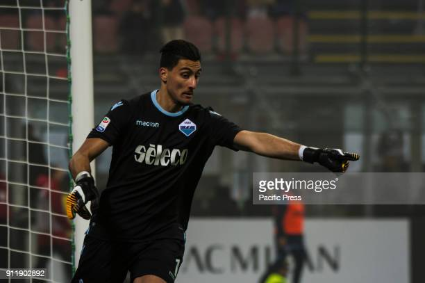 Thomas Strakosha of SS Lazio during Serie A football AC Milan versus SS Lazio Ac Milan wins 21