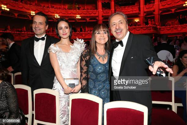 Thomas Stumph and his sister Stefanie StumphWolfgang Stumph and his wife Christine Stumph during the Semper Opera Ball 2018 at Semperoper on January...