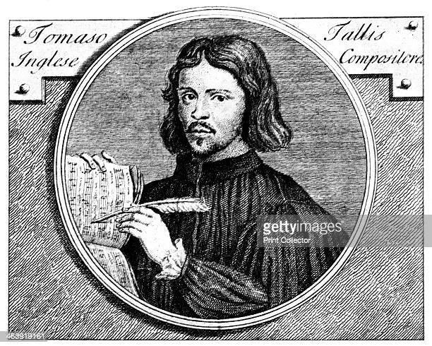 Thomas Tallis English organist and composer 1700 Portrait made in 1700 of the 16th century musician from English Music