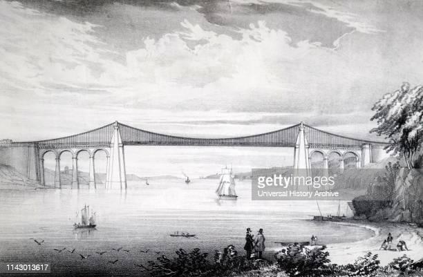 Thomas TELFORD'S suspension bridge over the Menai Straits built between 1820 and 1826