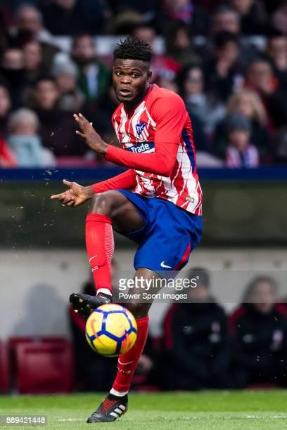 Thomas Teye Partey of Atletico de Madrid in action during the La Liga 201718 match between Atletico de Madrid and Real Sociedad at Wanda...