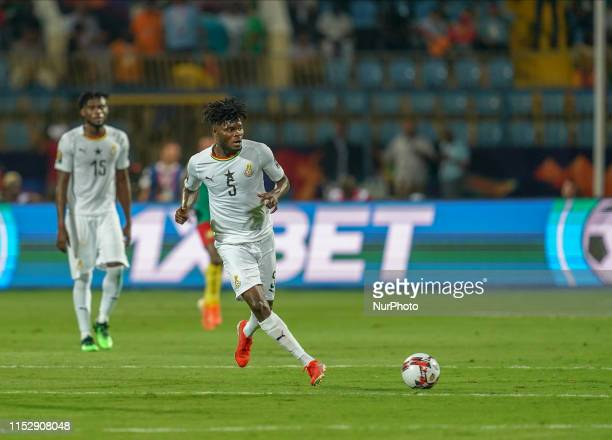 Thomas Teye Partey of Ghana during the 2019 African Cup of Nations match between Benin and Guinea-Bissau at the Ismailia stadium in Ismailia, Egypt...