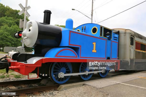 thomas the tank engine, cuyahoga valley national park, boston township, ohio, usa - pop up book stock pictures, royalty-free photos & images