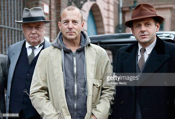 Thomas Thieme Heino Ferch and Samuel Finzi attend a photocall to promote the film 'Fritz Lang Der andere in uns' on September 18 2014 in Duesseldorf...