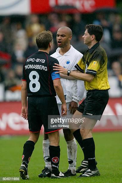 Thomas Thomasberg FC Midtjylland Thomas Roell FCK referee Tonny K Poulsen