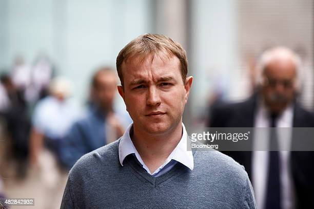 Thomas 'Tom' Hayes a former trader at banks including UBS Group AG and Citigroup Inc leaves for lunch during for his trial at Southwark Crown Court...