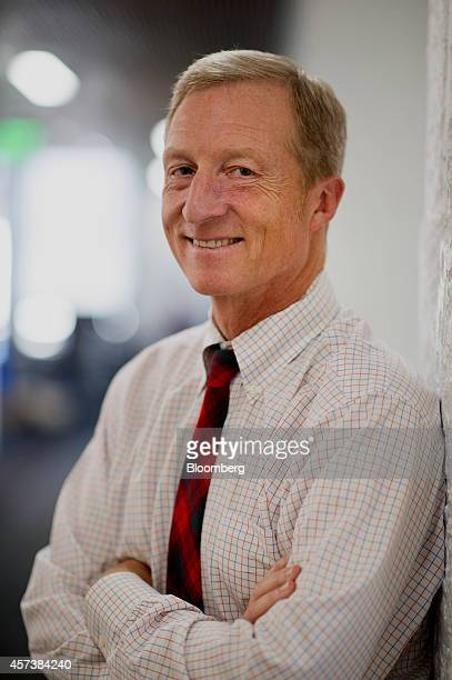 Thomas 'Tom' Steyer founder and former chief executive officer of Farallon Capital Management LLC stands for a photograph in San Francisco California...