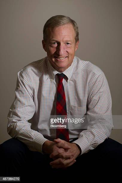 Thomas 'Tom' Steyer founder and former chief executive officer of Farallon Capital Management LLC sits for a photograph in San Francisco California...