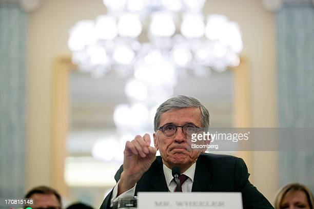 Thomas Tom Wheeler president and chief executive officer of Shiloh Group LLC and US President Barack Obama's nominee as chairman of the Federal...