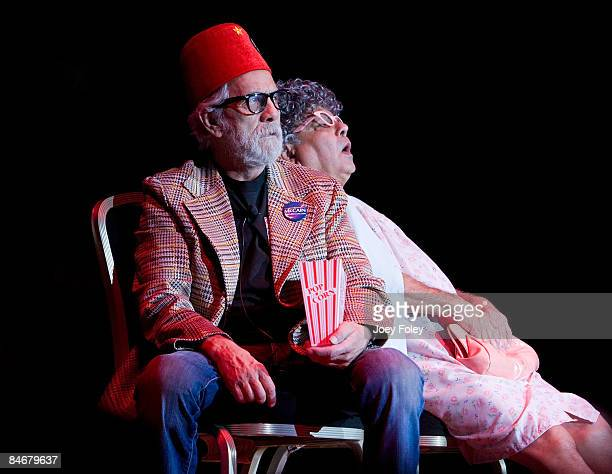 Thomas Tommy Chong and Richard 'Cheech' Marin perform as Cheech and Chong In Concert at the HorseshoeSouthern Indiana Casino on February 5 2009 in...