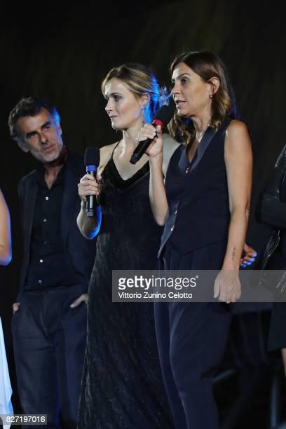 Thomas Trabacchi Lucia Mascino Francesca Comencini attend 'Amori che non sanno stare al mondo' screening during the 70th Locarno Film Festival on...