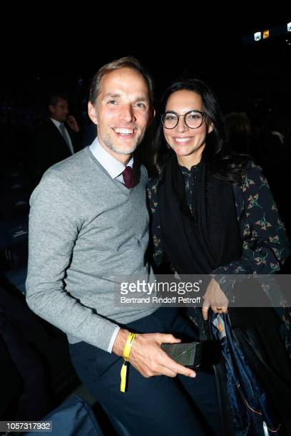 Thomas Tuchel and his wife Sissi Tuchel attend Rolex Paris Master during day seven of the Rolex Paris Masters on November 4 2018 in Paris France