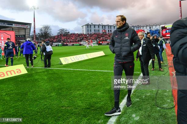 Thomas TUCHEL coach of PSG during the Ligue 1 match between Brest and Paris Saint Germain at Stade FrancisLe Ble on November 9 2019 in Brest France